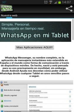 Imagen de Instalar WhatsApp en Tablet