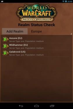 Imagen de World of Warcraft Realm Status