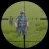 montaña francotirador disparo
