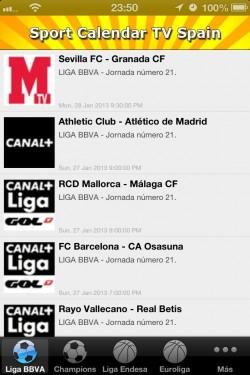 Imagen de Sport Calendar TV Spain